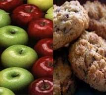 التفاح وبسكوت الشوفان لانقاص الوزن