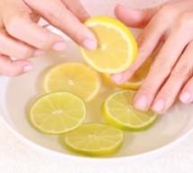 خلطة الليمون والخروع لتقوية الأظافر