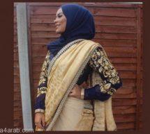 كيفية تنسيق الحجاب مع الساري الهندي