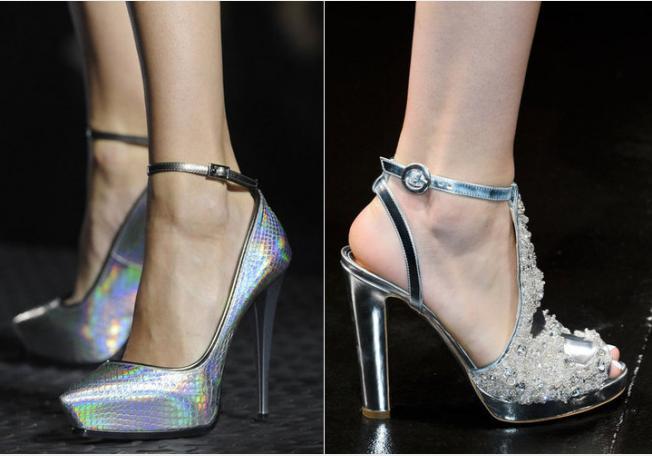 إختاري أحذية الـMetallic لمناسباتكِ الساهرة