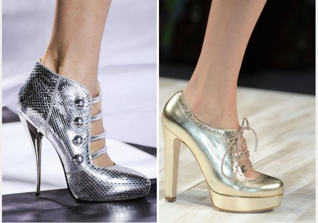 تألّقي في مناسباتكِ لربيع 2013 مع الأحذية بألوان الـMetallic